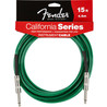 Fender Kalifornie nástroj kabel, Surf Green, 4,5 m