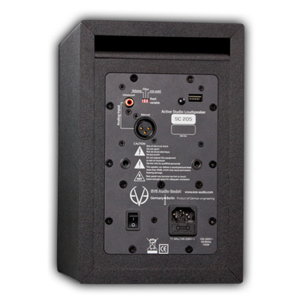 "Eve Audio SC205 2-Way 5"" Active Monitor (Back)"