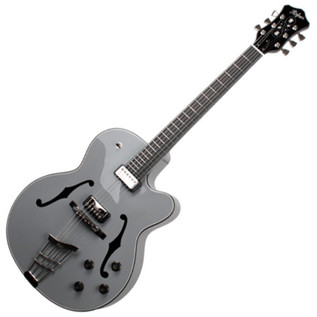Hofner Gold Label New President Archtop Electric Guitar, Grey