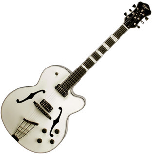 Hofner Gold Label New President Archtop Electric Guitar, Ivory