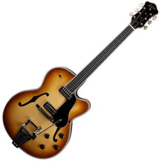 Hofner Gold Label New President Archtop Electric Guitar, Sunburst