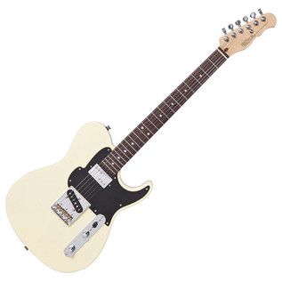 Fret King Black Label Country Squire Classic Guitar, Vintage White
