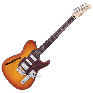 Fret King Black Label Country Squire Semitone De Luxe, Honeyburst