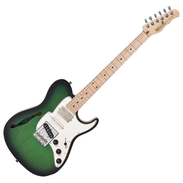Fret King Black Label Country Squire Semitone Special,Ash Green Burst