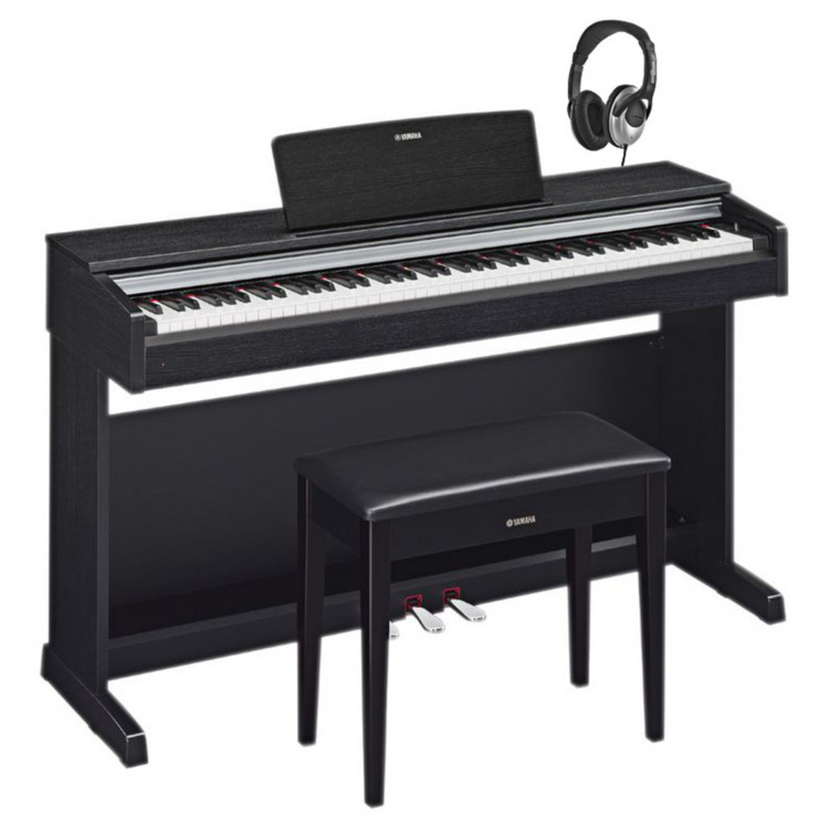 yamaha arius ydp161 digitale piano zwart notenhout. Black Bedroom Furniture Sets. Home Design Ideas