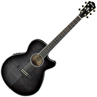 Ibanez AEG24II Electro Acoustic Guitar, Transparent Grey Burst - main