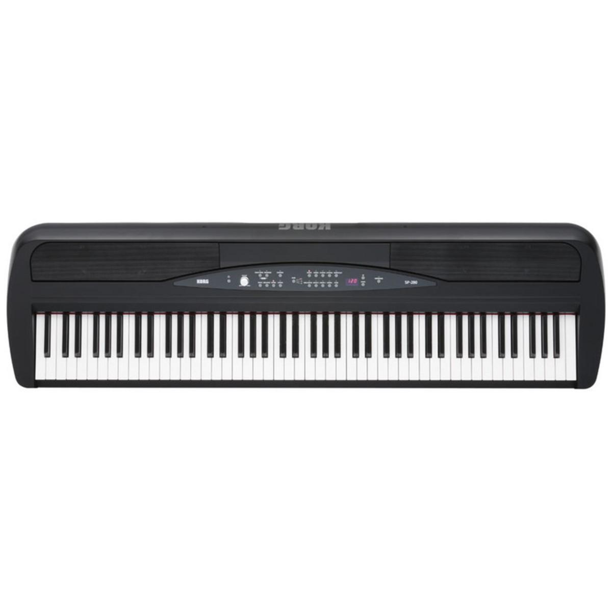 korg sp 280 digital stage piano black at. Black Bedroom Furniture Sets. Home Design Ideas