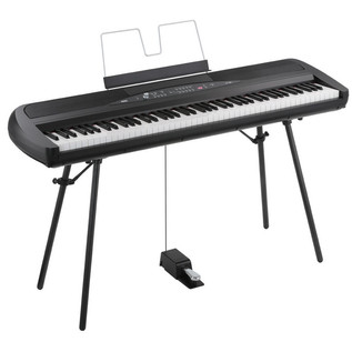Korg SP-280 Digital Stage Piano, Black with Music Stand