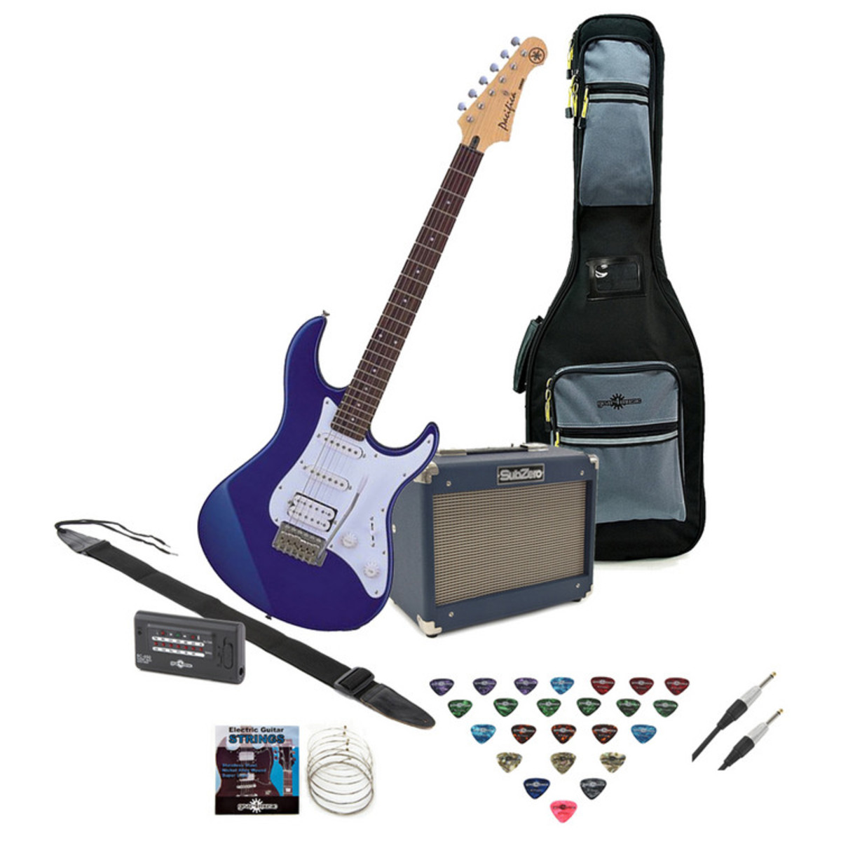 yamaha pacifica 012 electric guitar blue with subzero 10w amp pack at gear4music. Black Bedroom Furniture Sets. Home Design Ideas