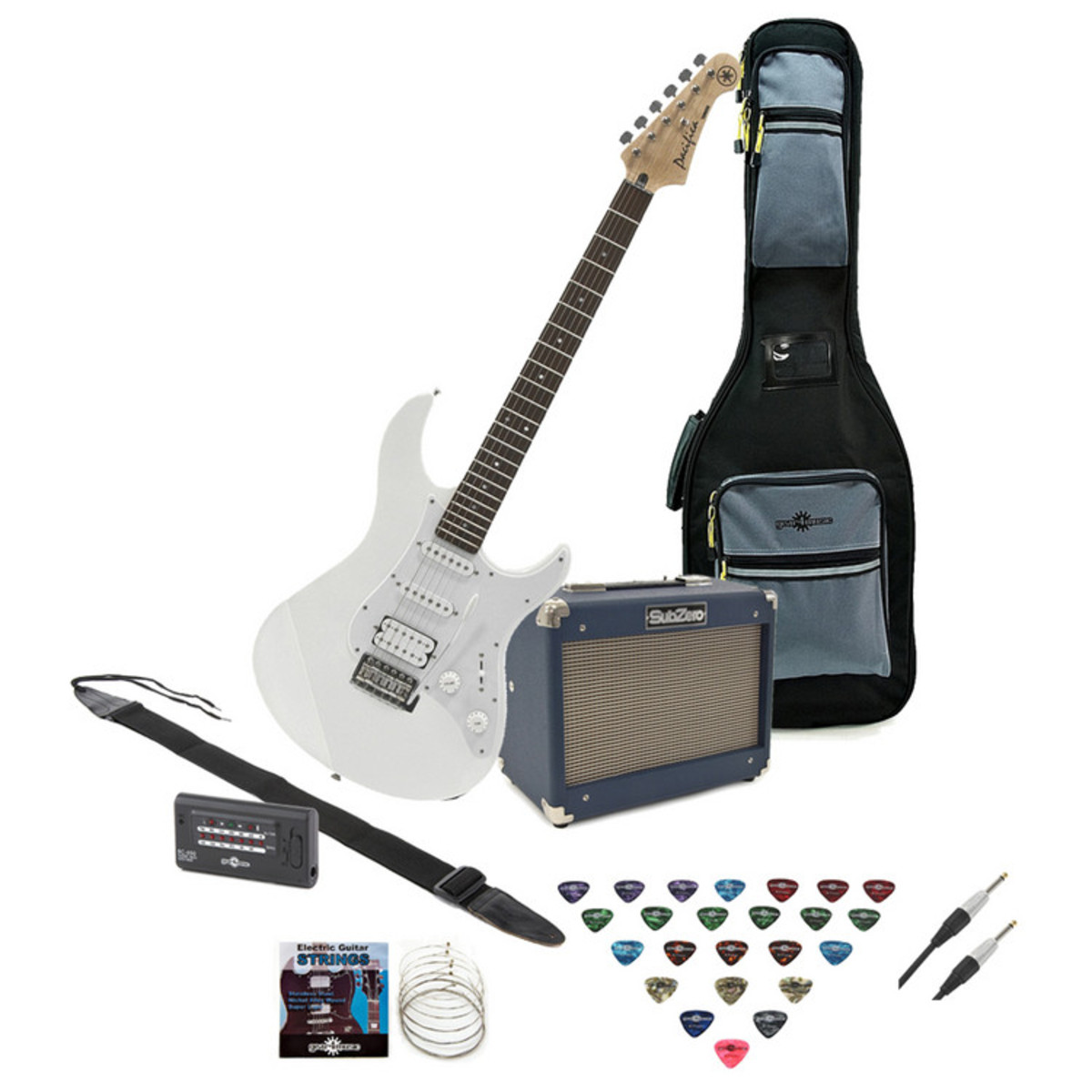 yamaha pacifica 012 electric guitar white with subzero 10w amp pack at gear4music. Black Bedroom Furniture Sets. Home Design Ideas