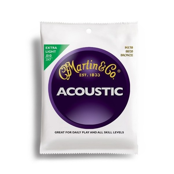 Martin M170 80/20 Bronze Acoustic Strings 010-047