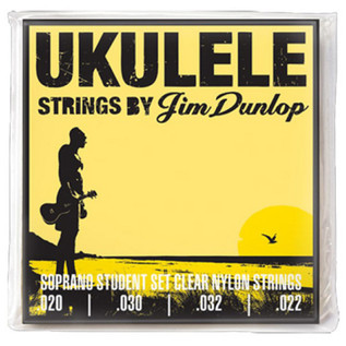 Jim Dunlop Ukulele Strings, Clear Nylon, Soprano Student