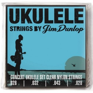 Jim Dunlop Ukulele Strings, Clear Nylon, Concert