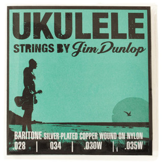 Jim Dunlop Ukulele Strings, Silver Copper Wound, Baritone
