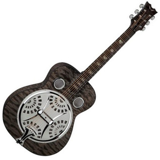 Dean Resonator Spider Guitar, Quilt Maple, Transparent Black