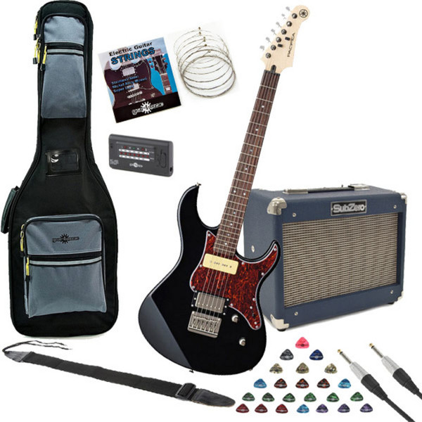 Yamaha Pacifica 311H Electric Guitar, Black with SubZero 10w Amp Pack