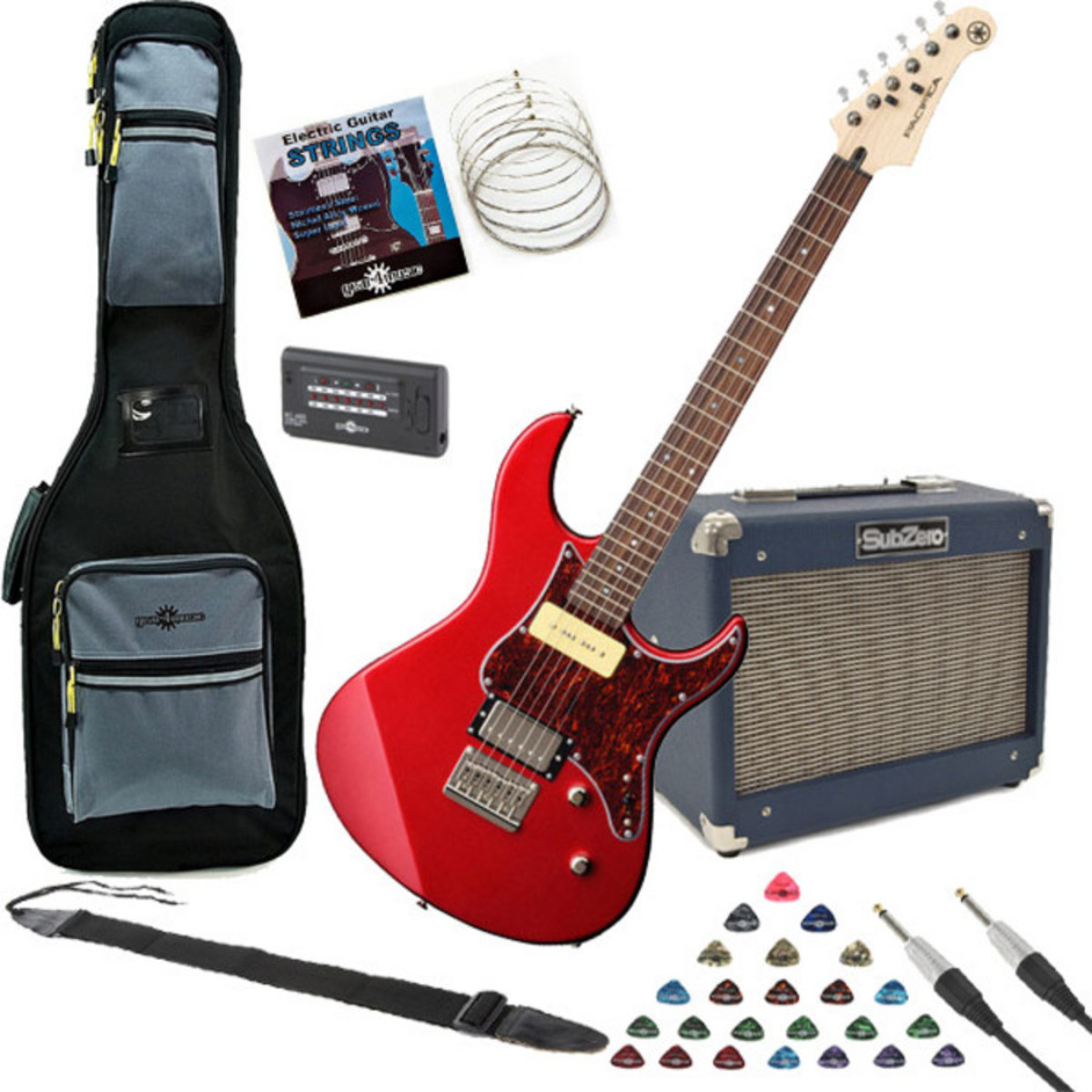 yamaha pacifica 311h electric guitar red with subzero 10w amp pack at