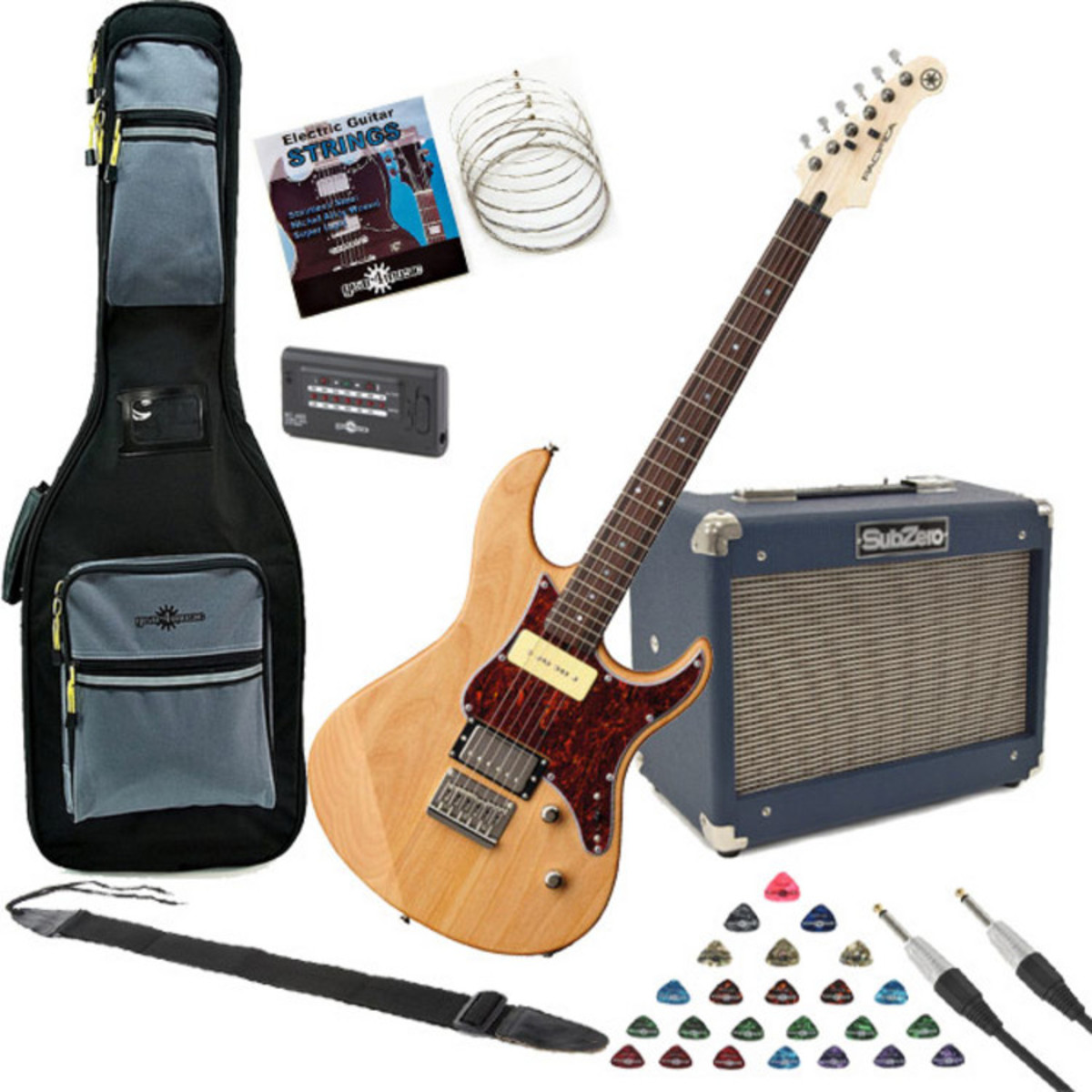 Yamaha Pacifica 311h Electric Guitar Natural W Subzero 10w Amp 6l6 Push Pull Amplifier Pack