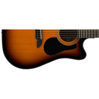 Alvarez RD16CE Dreadnought Electro-Acoustic Cutaway Guitar, Sunburst Lower Body