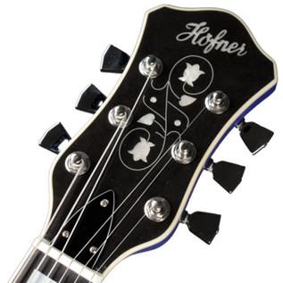Hofner Gold Label New President Archtop Electric Guitar, Royal Blue
