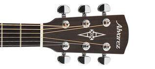 Alvarez AF70 Folk OOO Acoustic Guitar, Natural Headstock