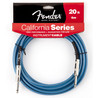 Fender Californie Instrument Cable, Lake Placid Blue, 6 m