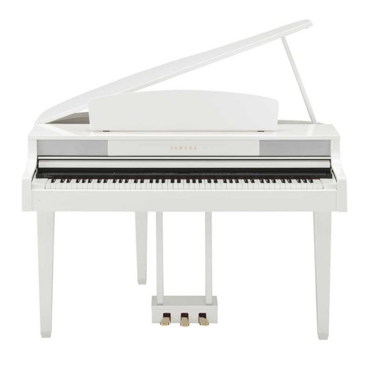 yamaha clp465 piano queue blanc brillant avec banc assorti. Black Bedroom Furniture Sets. Home Design Ideas