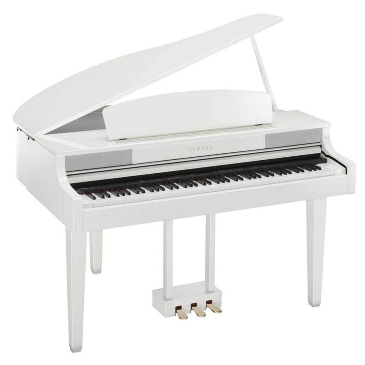 yamaha clp465 piano queue blanc brillant avec banc assorti. Black Bedroom Furniture Sets. Home Design Ideas