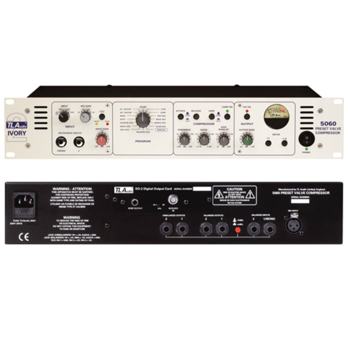 Tl Audio 5060 Ivory 2 Stereo Valve Comp Mic Pre At Gear4music The Preamplifier With Dual Recording Tl5060 Loading Zoom