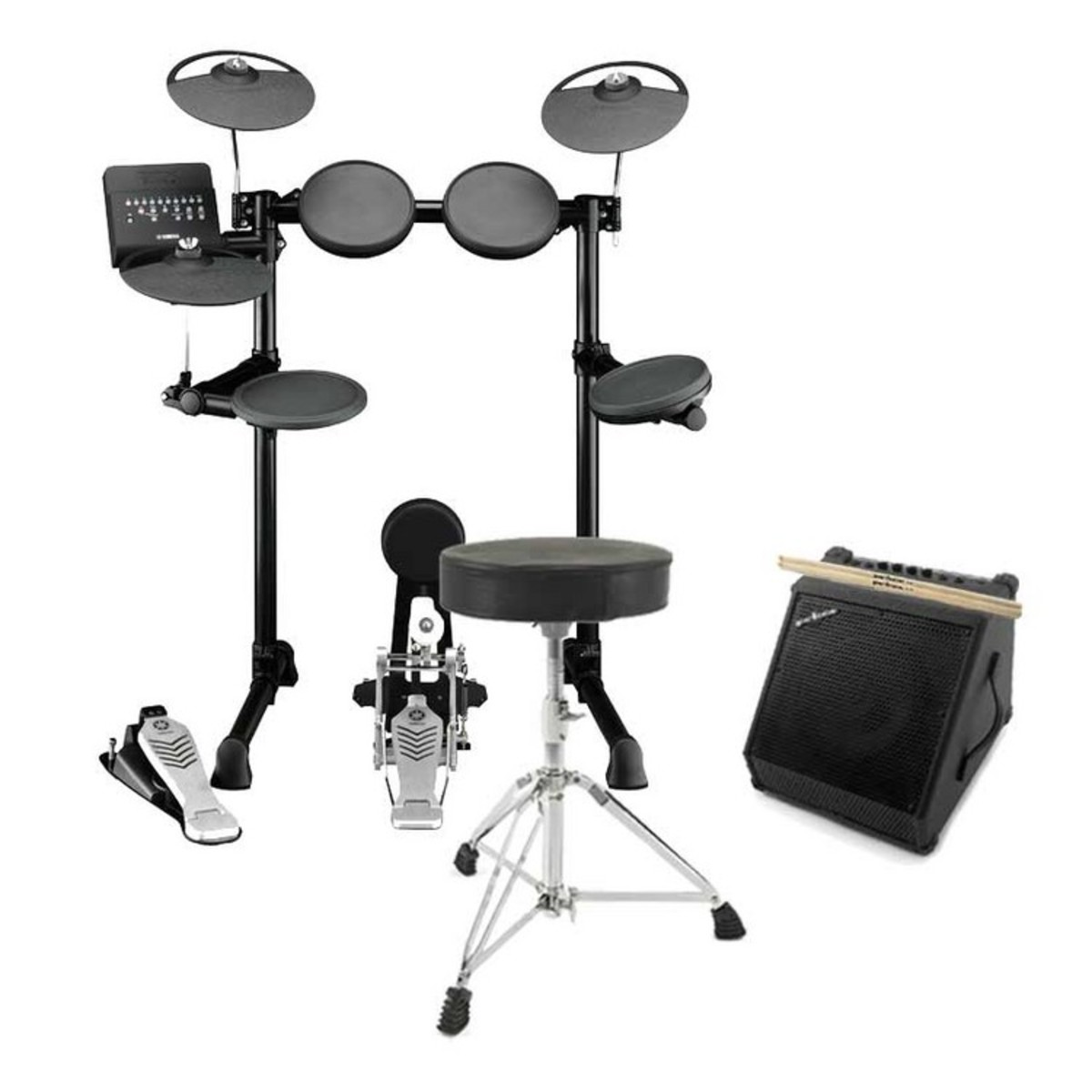 Yamaha dtx450k electronic drum kit with amp stool and for Electric drum set yamaha
