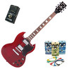 Encore E-Gitarre, in Cherry Red, mit Belcat 4 Pedal Blues-Pack