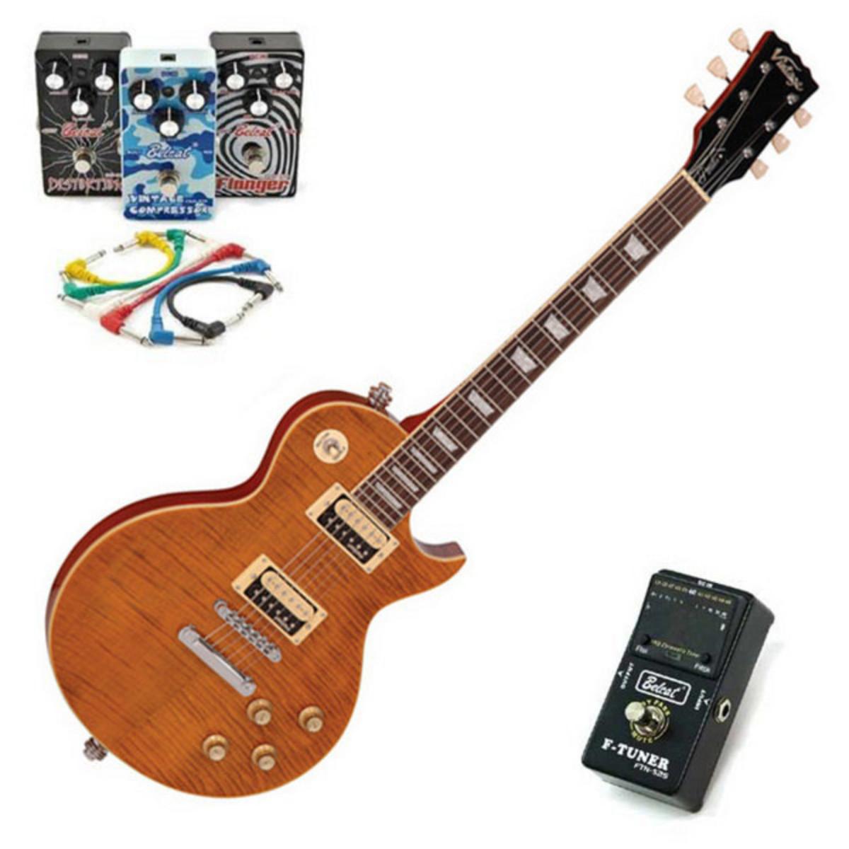 offline vintage v100afd slash guitar with belcat 4 pedal rock pack at gear4music. Black Bedroom Furniture Sets. Home Design Ideas