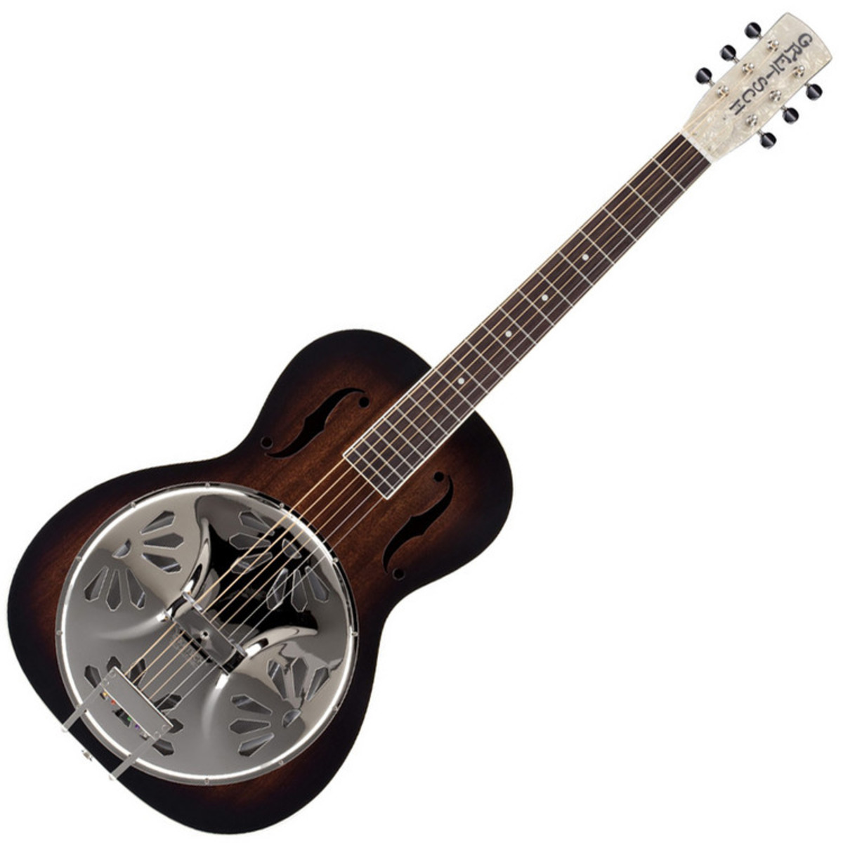 gretsch g9220 bobtail deluxe resonator guitar round neck sunburst at. Black Bedroom Furniture Sets. Home Design Ideas