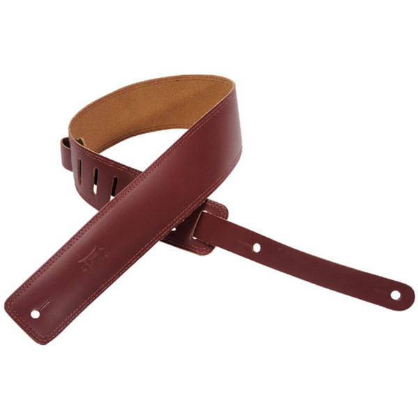 Levys DM1 Leather Strap, Burgundy