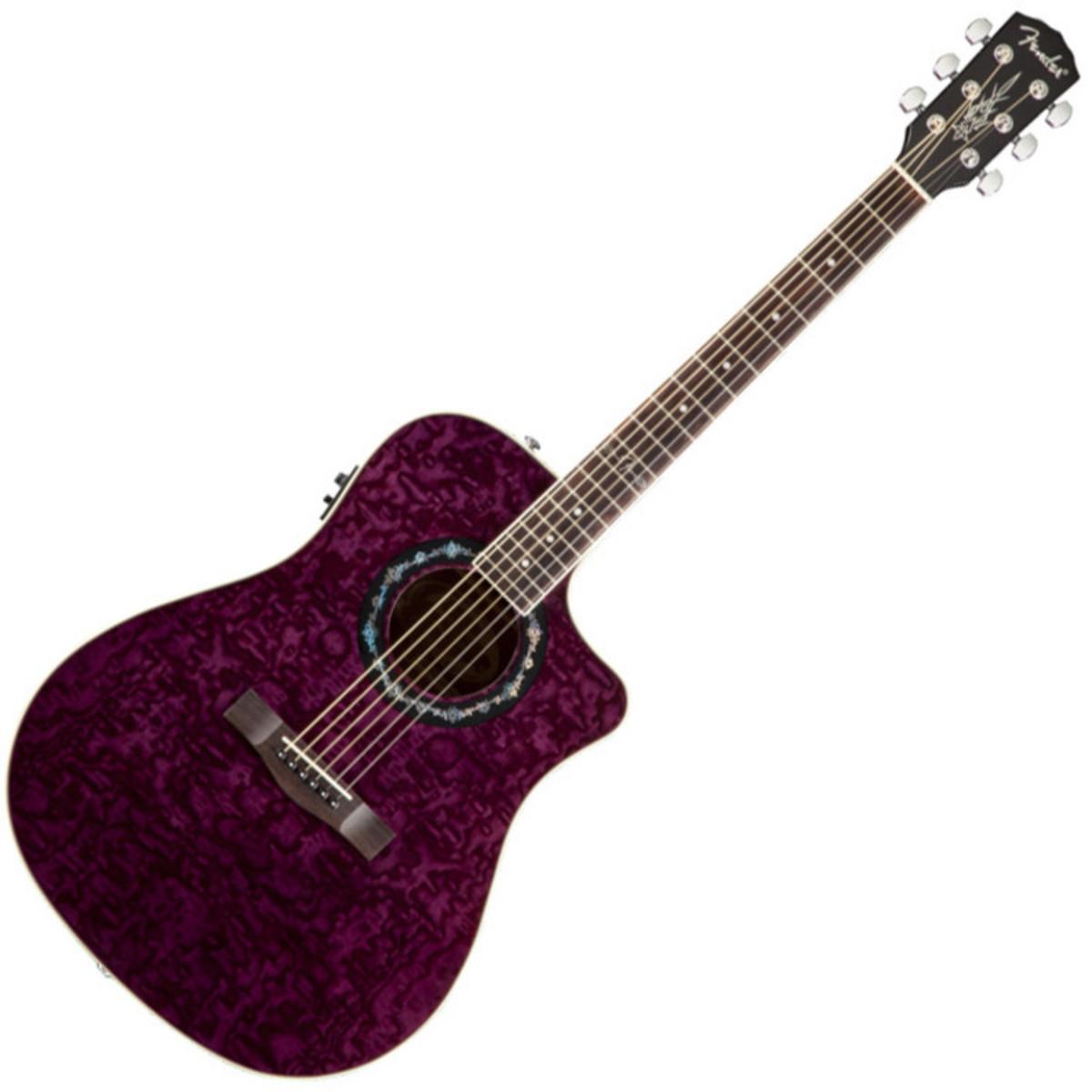 fender t bucket 300 ce electro acoustic guitar trans violet at. Black Bedroom Furniture Sets. Home Design Ideas