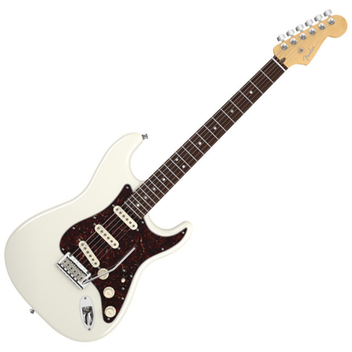 fender american deluxe stratocaster electric guitar olympic pearl at gear4music. Black Bedroom Furniture Sets. Home Design Ideas