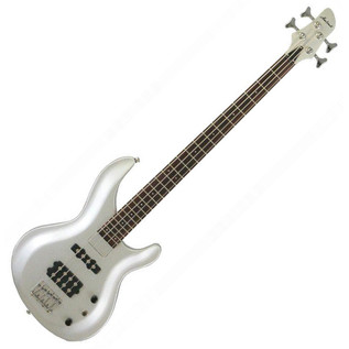 Aria IGB Standard Bass Guitar, Pearl White