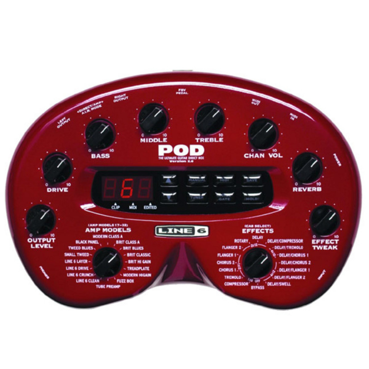disc line 6 pod 2 0 guitar multi effects processor at. Black Bedroom Furniture Sets. Home Design Ideas
