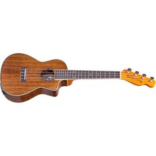 Fender Ukulele Mino'Aka Concert Electro-Acoustic Ukulele, Natural Bottom Angle