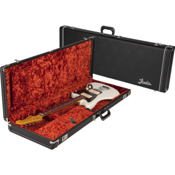 Fender Multi-Fit Guitar Case for Jaguar/Jazzmaster/Etc, Black/Orange