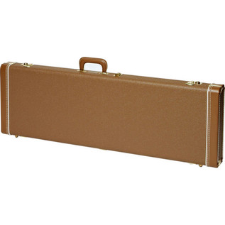 Fender Multi-Fit Guitar Case for Jaguar/Jazzmaster/Etc, Brown/Gold