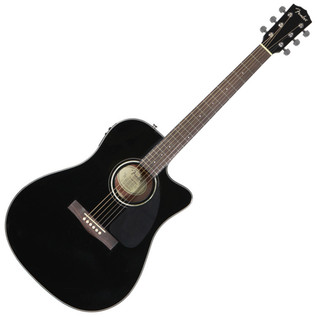 Fender CD-140SCE Dreadnought Cutaway Electro Acoustic Guitar, Black