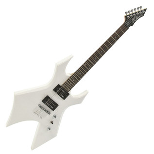 BC Rich Warlock One Guitar, White with Multi FX Pedal Pack - guitar