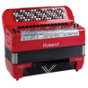 Roland FR-8 x V-Accordion, Button-Typ, rot