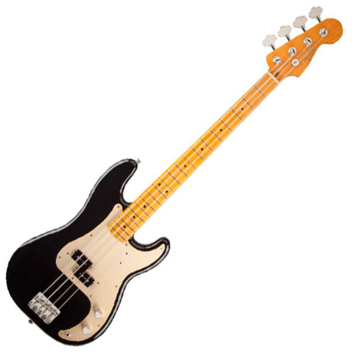 fender precision bass 50s lacquer maple fingerboard black at gear4music. Black Bedroom Furniture Sets. Home Design Ideas
