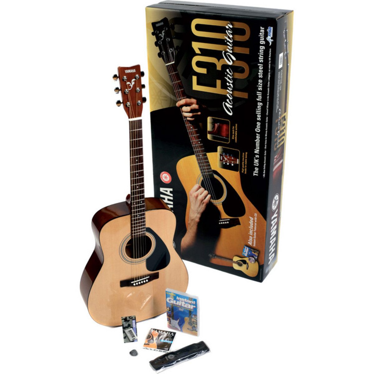 yamaha f310p2ws acoustic guitar beginners pack at gear4music. Black Bedroom Furniture Sets. Home Design Ideas