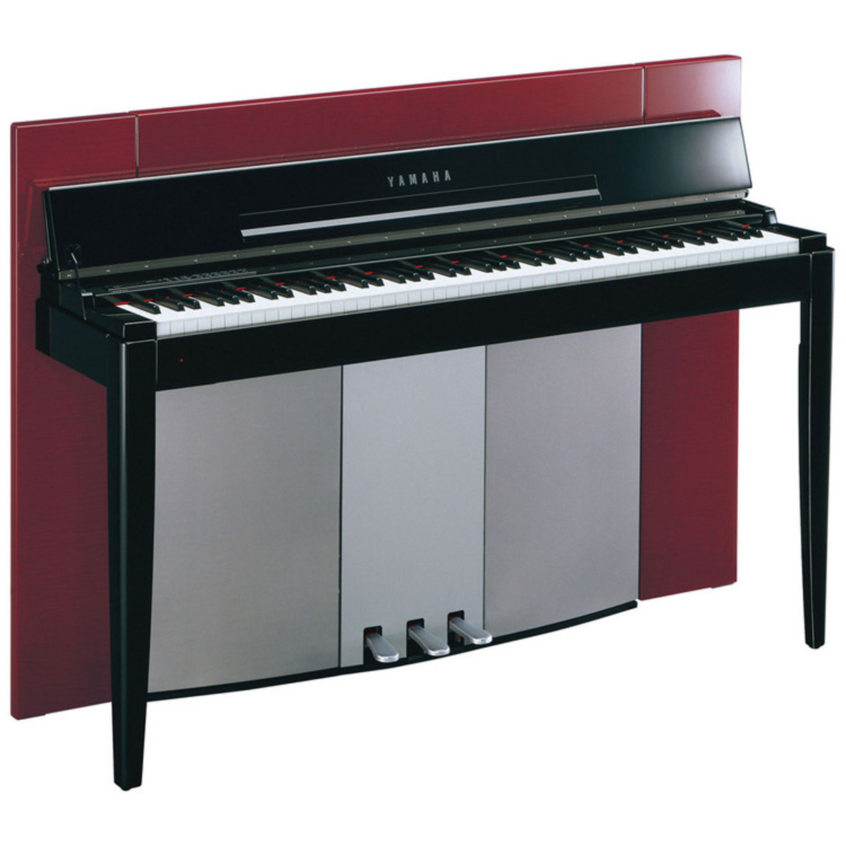 yamaha f02 modus digital piano polished red bench at. Black Bedroom Furniture Sets. Home Design Ideas