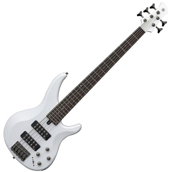 Yamaha TRBX305 5-String Bass Guitar, White