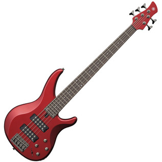 Yamaha TRBX305 5-String Bass Guitar, Candy Apple Red
