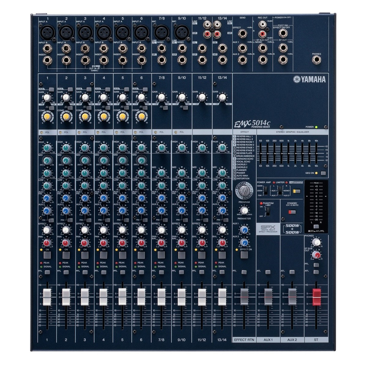 yamaha emx5014c powered mixer at gear4music. Black Bedroom Furniture Sets. Home Design Ideas